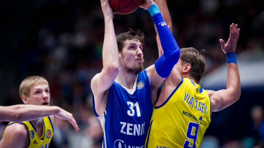 Баскетбольный «Зенит» обыграл «Химки» вматче Единой лиги ВТБ